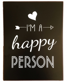 "Sign ""Happy person"""