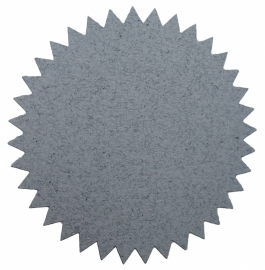 "Stickers ""Starburst"" grey"