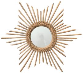 """Rotan spiegel """"Ster"""""""
