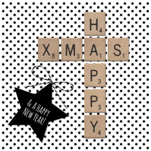 "Kaart ""Happy Xmas"""