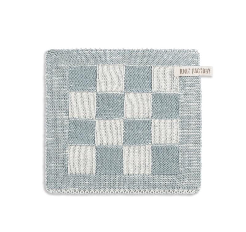"Potholder ""Block"" off-white/green"