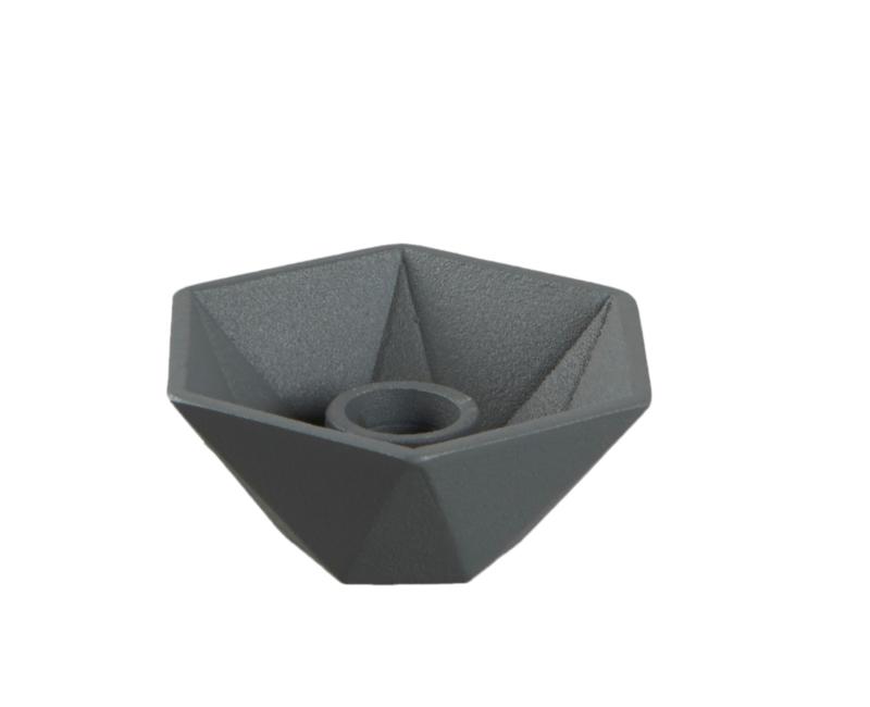 """Kandelaar """"Hexagon"""" grijs"""