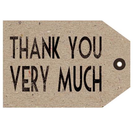 "Kaart ""Thank you"""