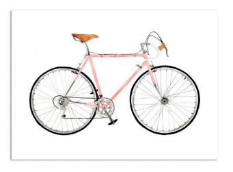 """Kaart """"Pink racer"""""""