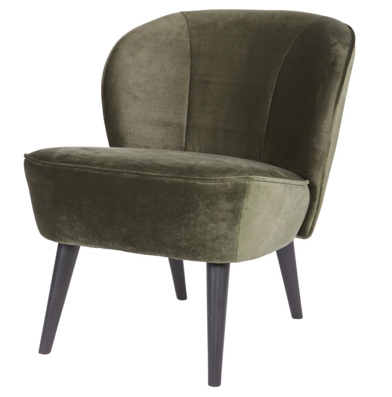 "Woood fauteuil ""Sara"" groen"