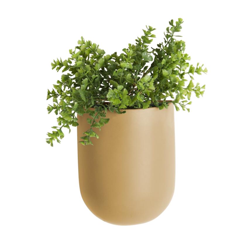 """Wandplantenpot """"Oval"""" zand"""