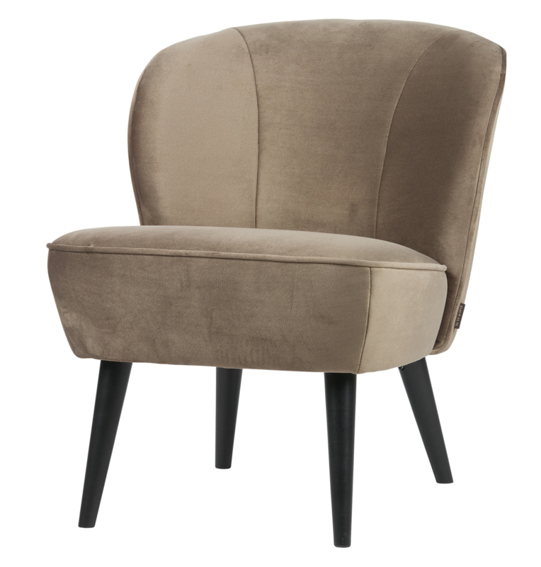 "Woood fauteuil ""Sara"" olijfgoud"