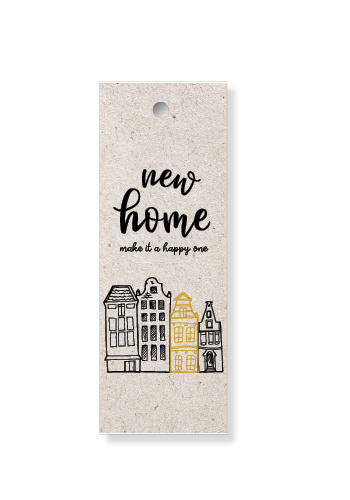 """Label """"New home"""""""
