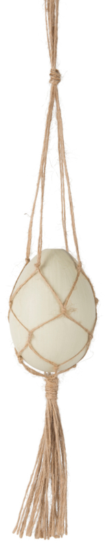 """Hanger """"Egg"""" macrame"""