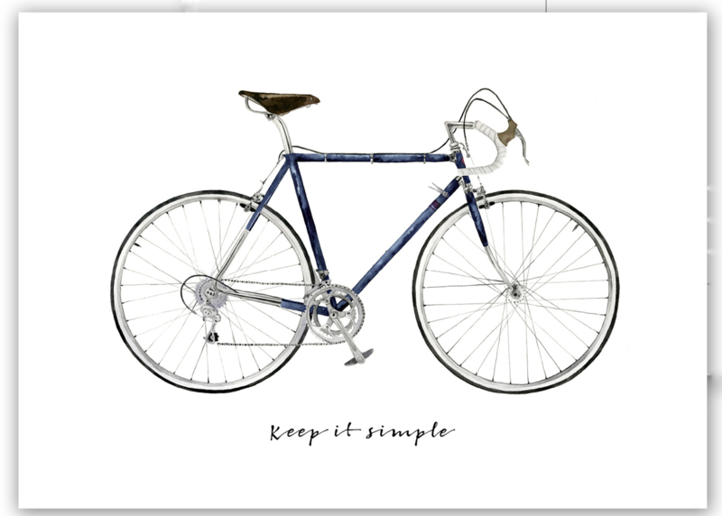 "Kaart ""Keep it simple"""