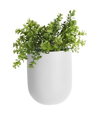 """Wandplantenpot """"Oval"""" wit"""