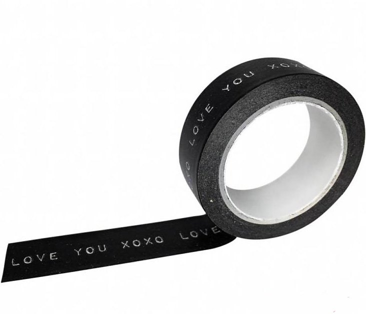 "Masking tape ""Love you XOXO"""