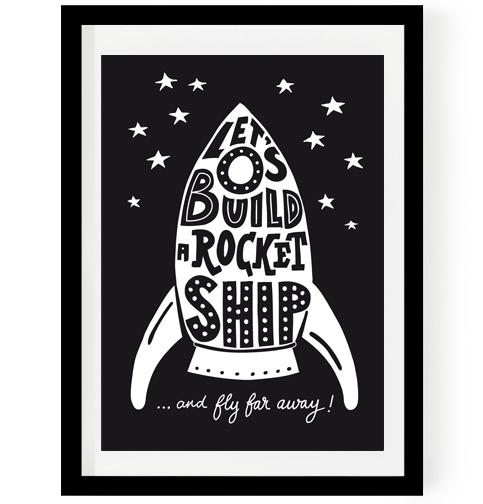 "Poster ""Rocket ship"""