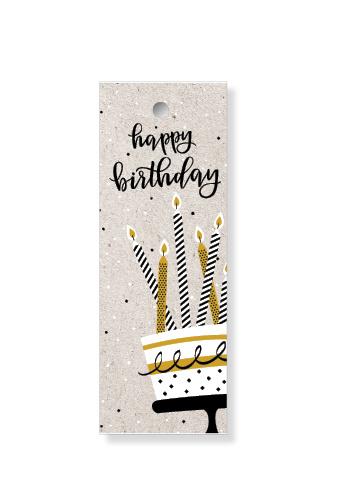 """Label """"Happy birthday"""""""