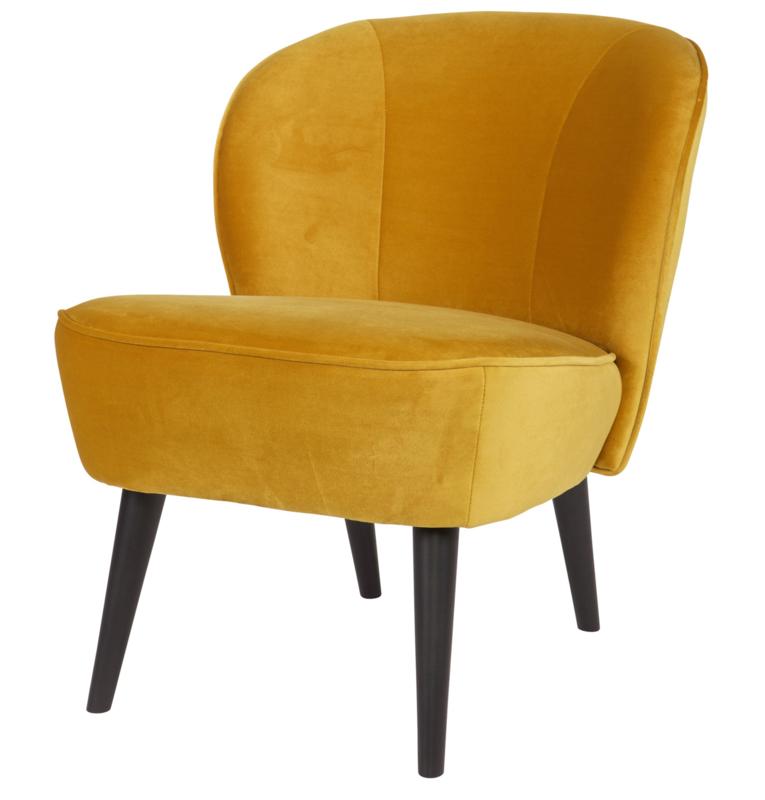 """Woood fauteuil """"Sara"""" okergeel"""