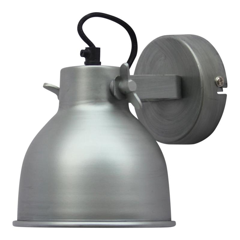 """Wandlamp """"Industrial L"""" Zink"""