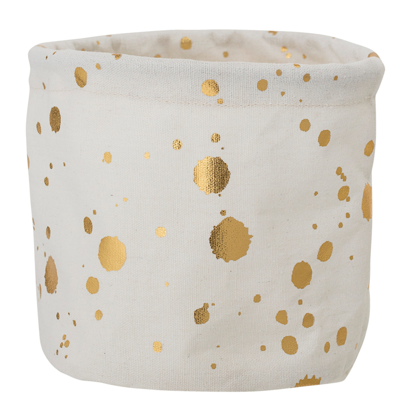 "Mandje ""Golden dots"""