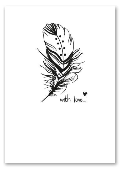 "Postcard ""With love"""