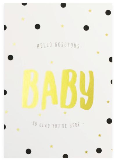 """Kaart """"Hello baby"""""""