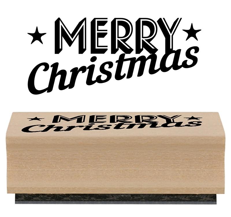 "Stempel ""Merry Christmas"""