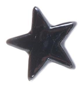 """Knop """"Star"""" zwart"""