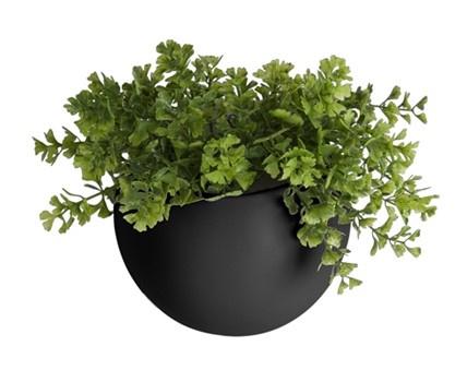 """Wandplantenpot """"Globe"""" zwart"""