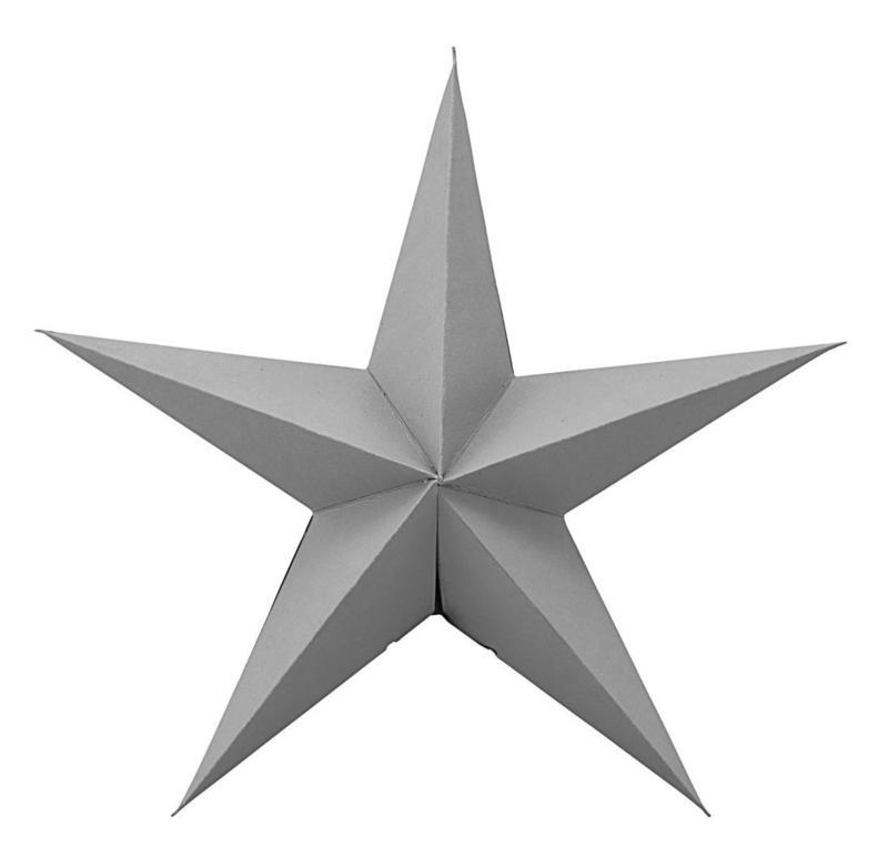 """Set van 2 sterren """"Grijs"""""""
