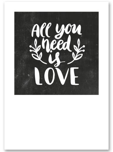 """Kaart """"All you need"""""""