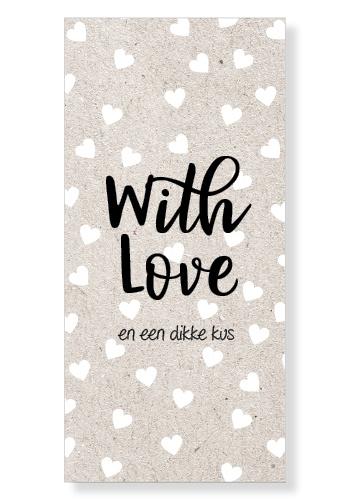 "Kaart ""With love"""