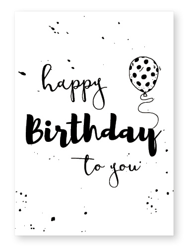 "Kaart ""Happy birthday"""
