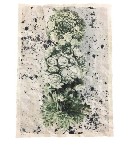 "A5 Canvas print ""Vetplanten"""