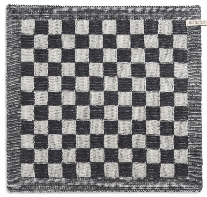 "Kitchen towel ""Block"" off-white/grey"""