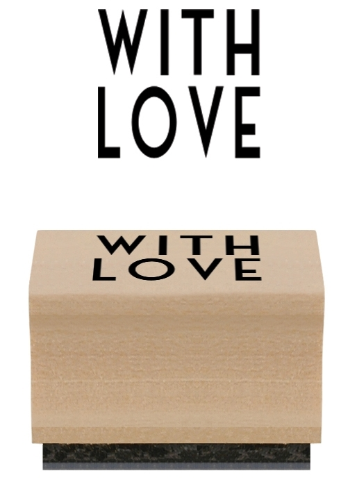 """Stamp """"With love"""""""