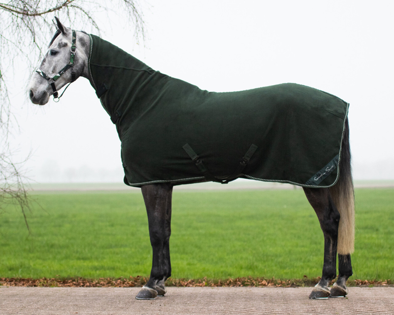 Fleece deken Brilliance met hals