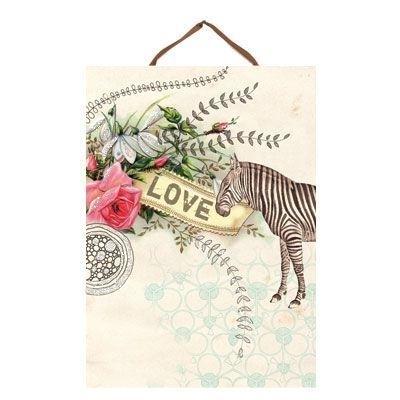 "Art panel ""zebra love"""
