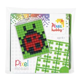 Pixelhobby Pixel mosaic medaillon startset lieveheersbeestje sleutelhanger