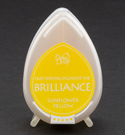 Tsukineko Brilliance Pigment Ink Sunflower Yellow Dew Drop BD-11