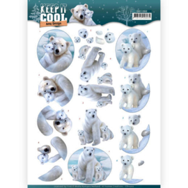 Amy Design Keep It Cool Cool Polar Bears CD11202 3D knipvel A4