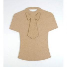 Joy! Crafts MDF t-shirt met stropdas 19,5 x 21,5 cm dikte 3 mm