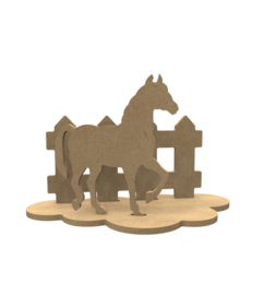 Gomille MDF Deco 3D paard set lengte 24 cm hoogte 15 cm dikte 5 mm