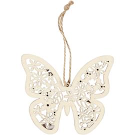 Made of Wood houten triplex decoratie vlinder 10 x 9 cm dikte 2 mm