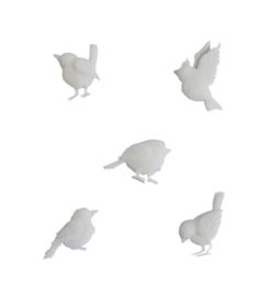Ismare Keramiek scrapbook ornamenten vogels 5 stuks