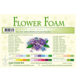 Leane Creatief Flower Foam vel A4 grass green (gras groen) 25.4315 dikte 0,8 mm