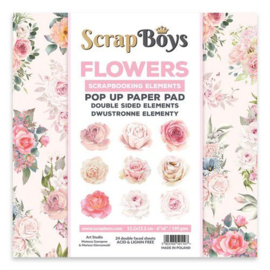 Art Studio Scrap Boys Flowers Pop Up paper pad 15,2 x 15,2 cm