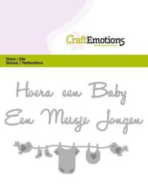 CraftEmotions die (mal) hoera een baby 115633/0305