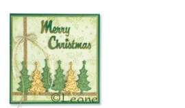 Leane Creatief clear stamp Christmas trees small 55.0904