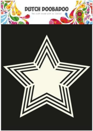 Dutch Doobadoo Stencil Shape Art A5 Star 5 points (ster) 470.713.116