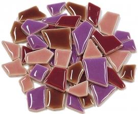 Flip keramische mini mix mozaïek paars bakje à 65 gram