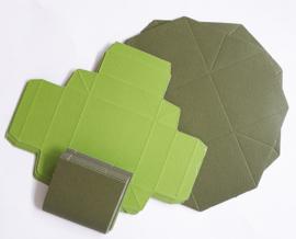 Kleurrijke vouwdozen 10 stuks groen 5,5 x 5,5 cm 250 grams papier