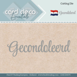 Card Deco Essentials Gecondoleerd Cutting Die (snijmal) CDECD0070